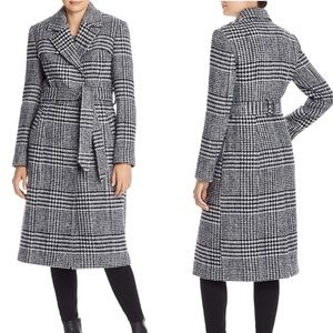 NWT Cole Haan Signature Houndstooth Coat